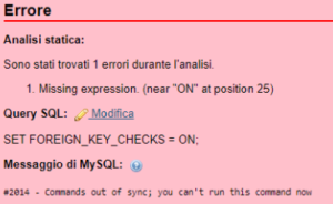 #2014 - Commands out of sync; you can't run this command now
