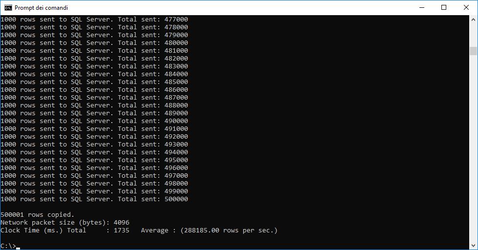 bcp file import