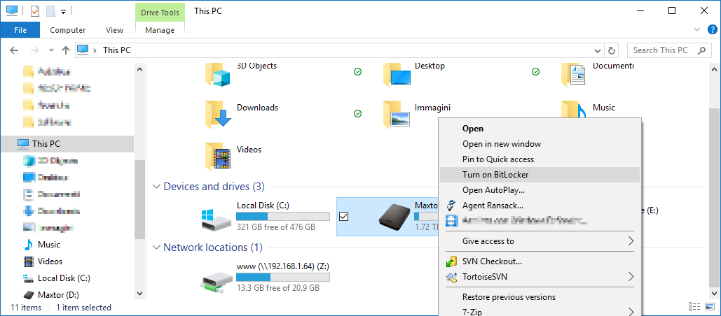 Start Bitlocker configuration