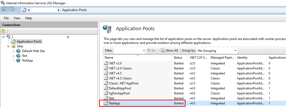 IIS Application Pool