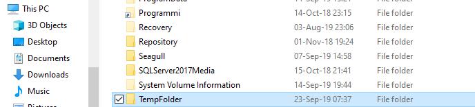 TempFolder under C:\