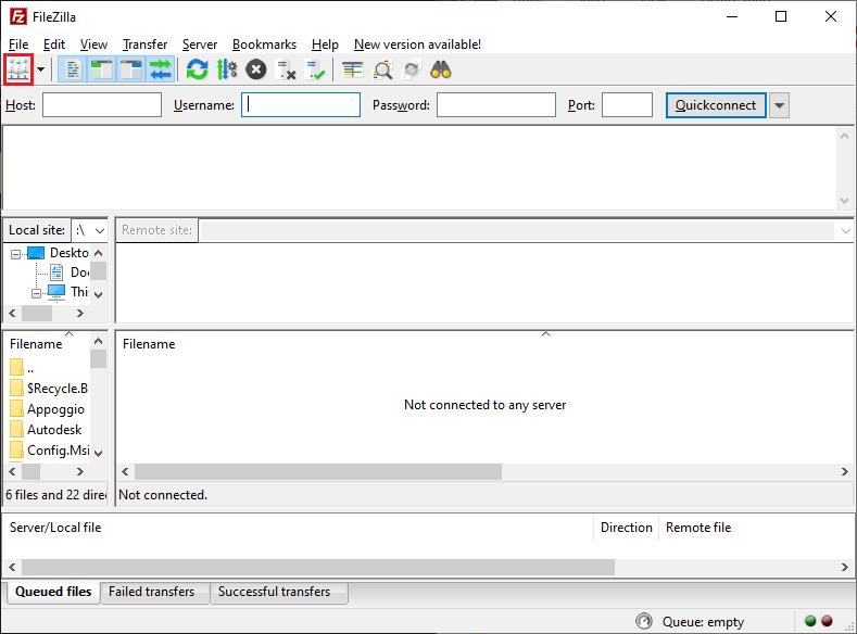 FileZilla Client 1