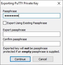 Export private key enter passphrase
