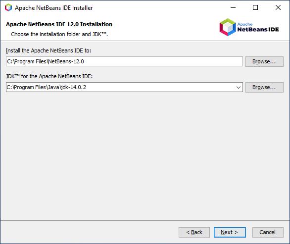 NetBeans installation path