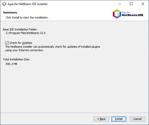 Quite ready to begin NetBeans Installation