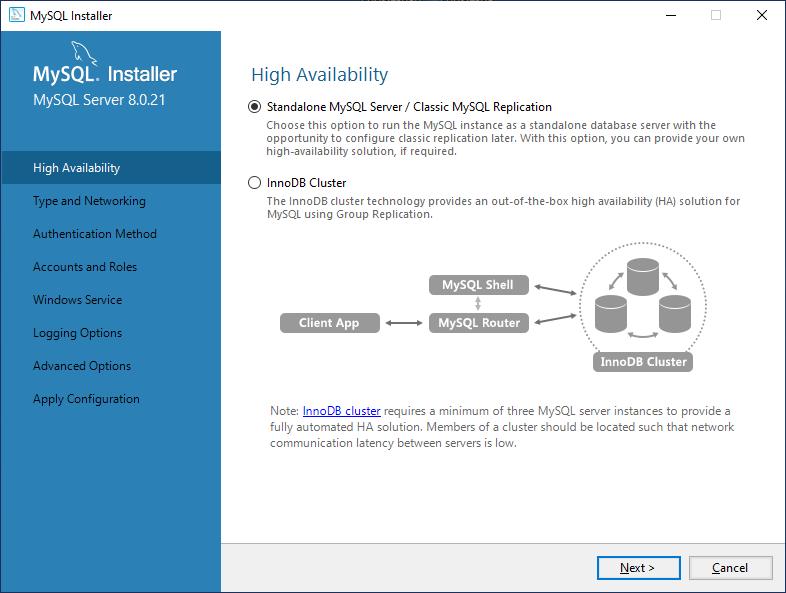 High availability configuration
