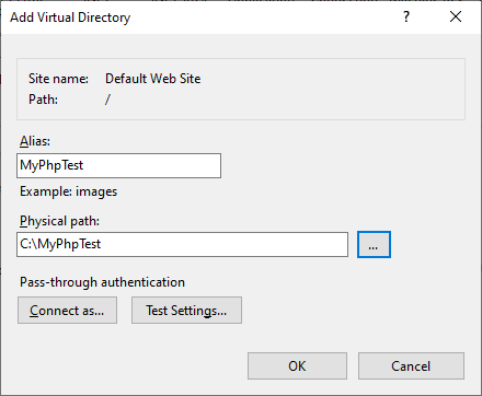 Virtual directory details