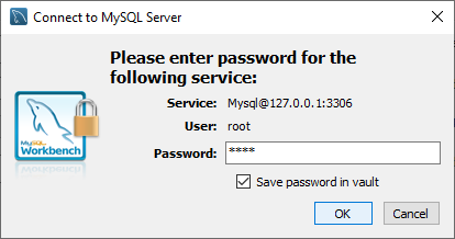 Insert the password of your user