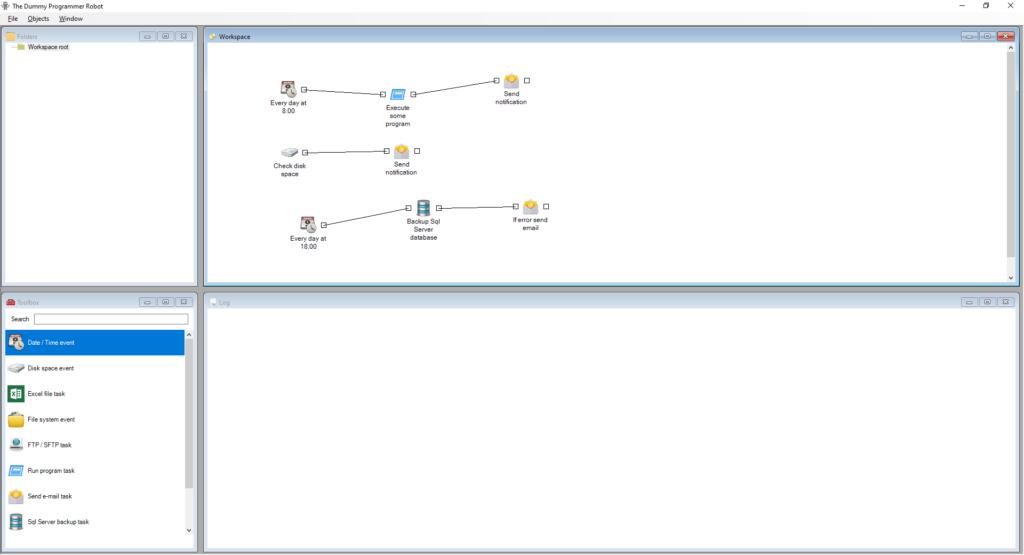 The Dummy Programmer Robot - Job Editor Screenshot